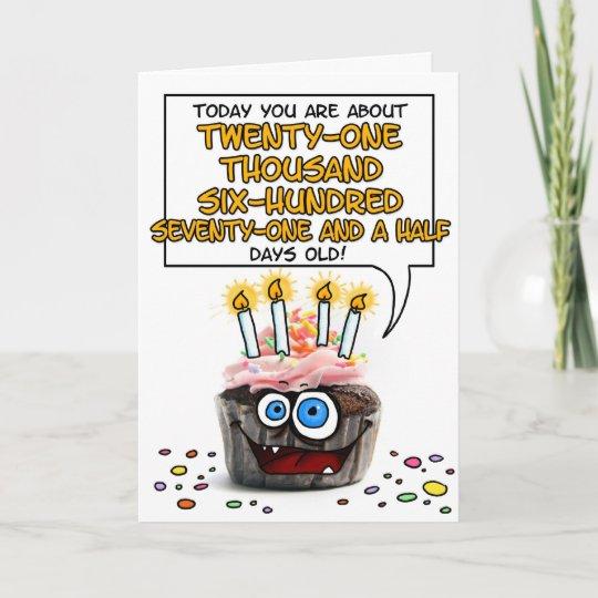 Gelukkige Verjaardag Cupcake 59 Jaar Oud Kaart Zazzle Nl