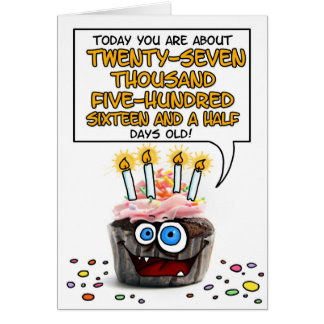 Gelukkige Verjaardag Cupcake - 75 jaar oud Kaart