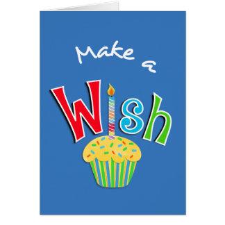 Gelukkige Verjaardag Cupcake en de Groet van de Wenskaart