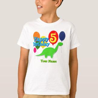 Gelukkige Verjaardag de Ballons Dino T-Shirt van