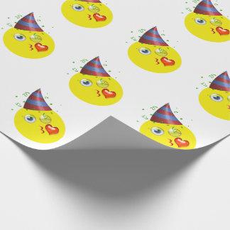 Gelukkige Verjaardag Emoji Cadeaupapier