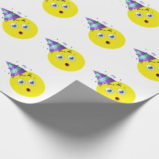 Gelukkige Verjaardag Emoji Inpakpapier