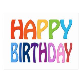 Gelukkige Verjaardag - Gelukkige Kleurrijke Groet Briefkaart
