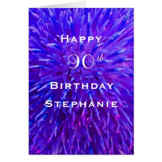 Gelukkige Verjaardag, Gepersonaliseerde, Paarse Briefkaarten 0