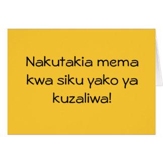 Gelukkige Verjaardag in Swahili! Kaart