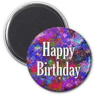 Gelukkige Verjaardag Ronde Magneet 5,7 Cm