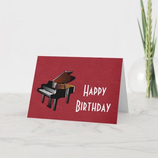 Gelukkige Verjaardag Met Pianoebbehout En Ivoor Kaart Zazzle Nl