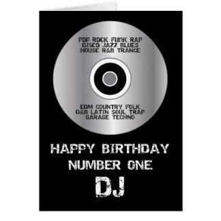 Gelukkige Verjaardag Nummer 1 DJ Wenskaart