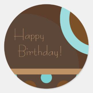 Gelukkige Verjaardag! Retro 103 Ronde Sticker