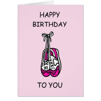 Gelukkige Verjaardag, roze trainers voor Kaart