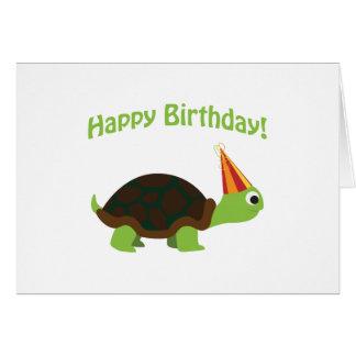 Gelukkige Verjaardag! Schildpad Notitiekaart