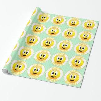 Gelukkige Verjaardag Smiley Cadeaupapier