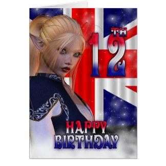 Gelukkige Verjaardag Union Jack, Elf Briefkaarten 0