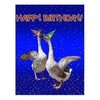 Gelukkige Verjaardag van de Ganzen van de Briefkaart
