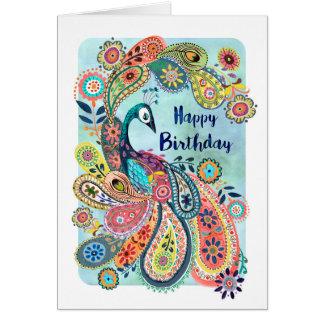 Gelukkige Verjaardag | van de pauw Wenskaart