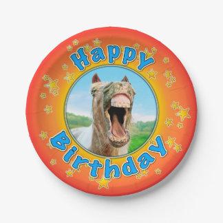 Gelukkige Verjaardag van het gelukkige paard Papieren Bordje
