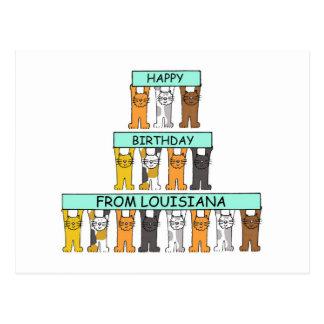 Gelukkige Verjaardag van Louisiane Briefkaart