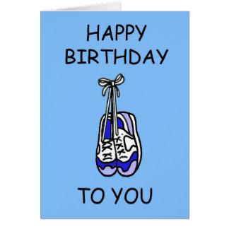 Gelukkige Verjaardag voor mannelijke agent, blauwe Kaart