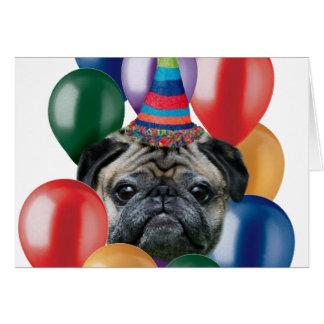 Gelukkige verjaardagsPug hond Wenskaart