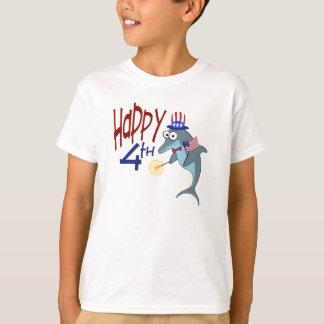 Gelukkige vierde van de Dolfijn van Juli T Shirt