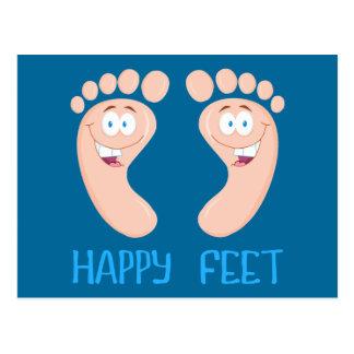 gelukkige voeten briefkaart