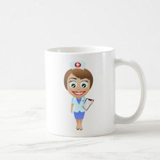 Gelukkige Vrouwelijke Verpleegster Koffiemok