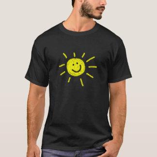 Gelukkige zonneschijnt-shirt t shirt