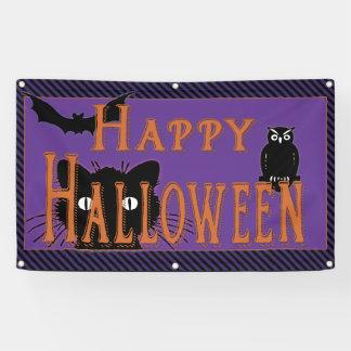 Gelukkige Zwarte Kat, Uil en Knuppel Halloween