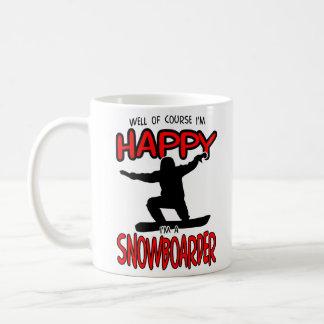 Gelukkige (Zwarte) SNOWBOARDER Koffiemok