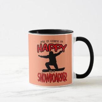 Gelukkige (Zwarte) SNOWBOARDER Mok