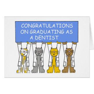 Gelukwensen bij het een diploma behalen als kaart