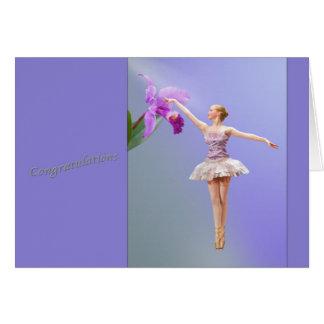 Gelukwensen, de Overweging van de Dans, Ballerina, Briefkaarten 0