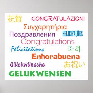 Gelukwensen in Vele Kleurrijke Talen Poster