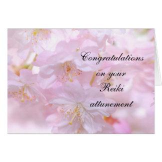 Gelukwensen op uw attunement Reiki Kaart