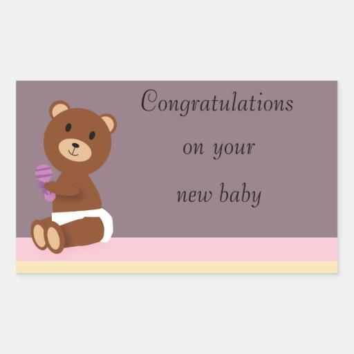 Gelukwensen op Uw Nieuwe Sticker van het Baby