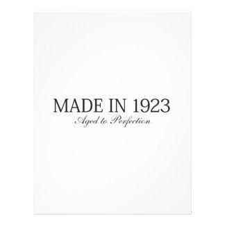 Gemaakt in 1923 gepersonaliseerde folder
