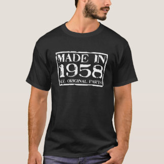 Gemaakt in 1958 alle originele delen t shirt