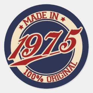 Gemaakt in 1975 ronde sticker