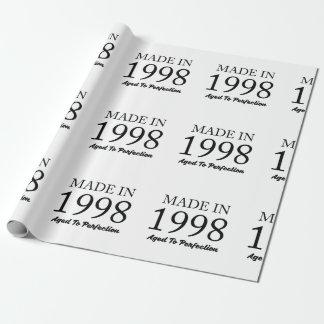 Gemaakt in 1998 inpakpapier