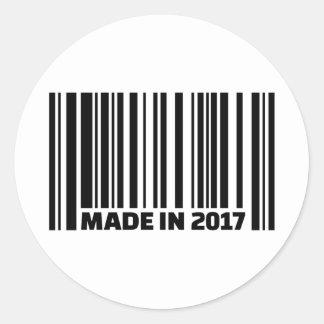 Gemaakt in 2017 ronde sticker