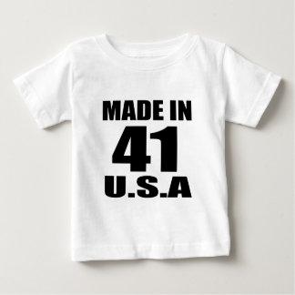 GEMAAKT IN 41 DESIGN VAN DE U.S.A- VERJAARDAG BABY T SHIRTS