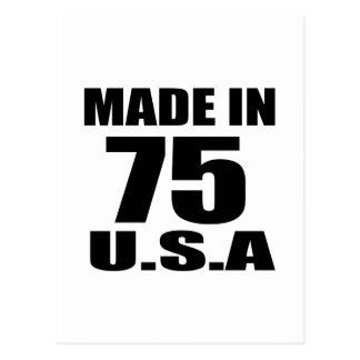 GEMAAKT IN 75 DESIGN VAN DE U.S.A- VERJAARDAG BRIEFKAART