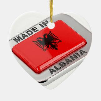 Gemaakt in Albanië Keramisch Hart Ornament