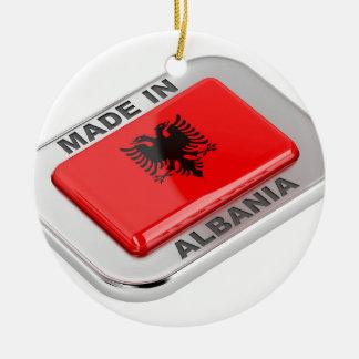 Gemaakt in Albanië Rond Keramisch Ornament