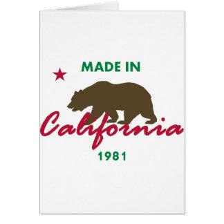 Gemaakt in Californië 1981 Briefkaarten 0
