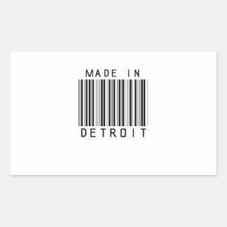 Gemaakt in de Streepjescode van Detroit Rechthoekige Sticker