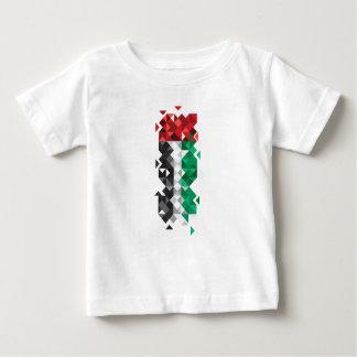 Gemaakt in de V.A.E, verenigde de Abstracte Vlag Baby T Shirts