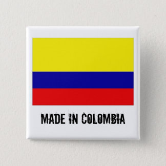 Gemaakt in de vierkante knoop van Colombia Vierkante Button 5,1 Cm