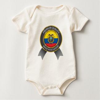 Gemaakt in de Vlag van Ecuador, Republiek van de Baby Shirt
