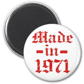 Gemaakt in het design van 1971 magneet